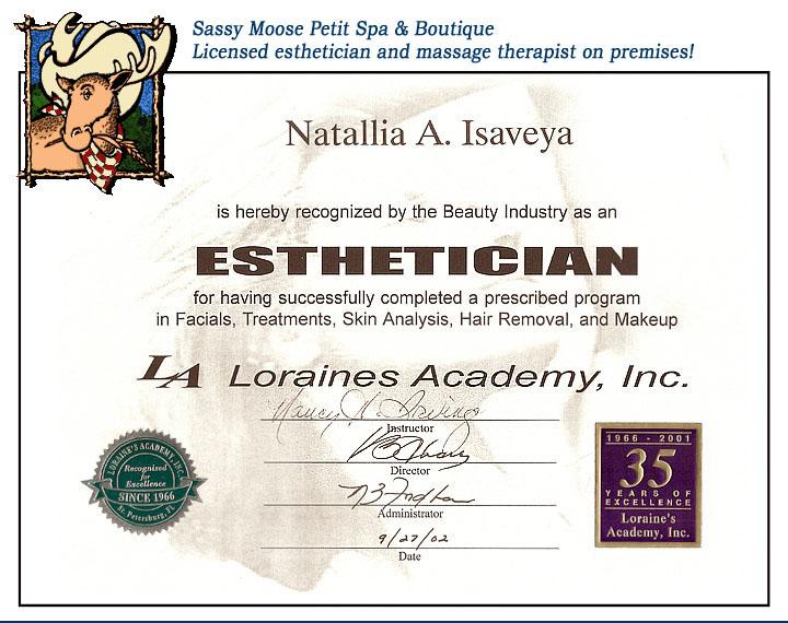 Esthetician Certificate Online - Best Design Sertificate 2018